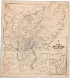 Mapa del Departamento de Antioquia