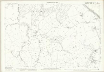 Staffordshire XVI.8 (includes: Checkley Cum Wrinehill; Madeley; Woore) - 25 Inch Map