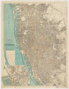 Bacon's plan of Liverpool : divided into 1/4 mile squares