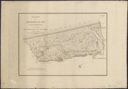 Kaart der Berkheysche afwatering in de gemeenten Wassenaar en Katwijk, December 1823