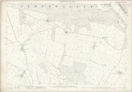 Derbyshire XXXIX.8 (includes: Alderwasley; Ashleyhay; Crich; Heage; Shottle and Postern) - 25 Inch Map