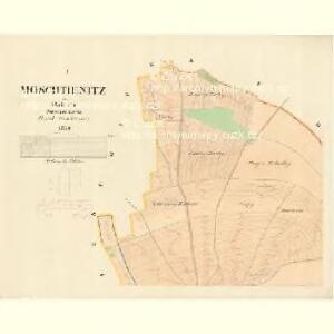Moschtienitz - m0803-1-001 - Kaiserpflichtexemplar der Landkarten des stabilen Katasters