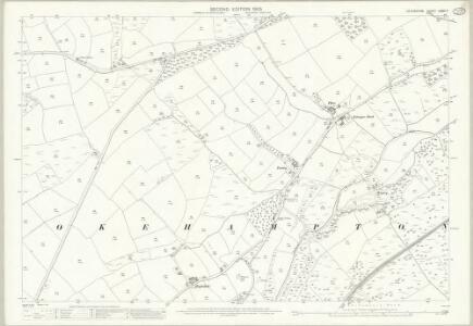 Devon LXXVI.7 (includes: Okehampton Hamlets) - 25 Inch Map