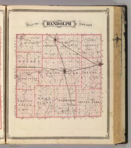 Map of Randolph County.