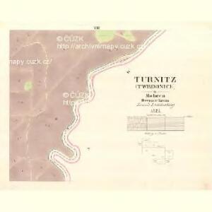 Turnitz (Twrdonice) - m3180-1-008 - Kaiserpflichtexemplar der Landkarten des stabilen Katasters