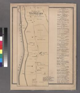 Plate 24: Northern part of Town of Yonkers, adjacent to the River.