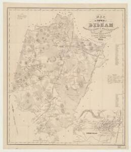 Map of the town of Dedham, Norfolk County, Massachusetts : surveyed by authority of the town