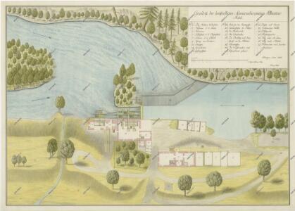 Půdorysný plán mlýna na řece Lužnici 1