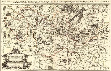 Le Marquisat et Eslectorat de Brandebourg, qui fait partie du Cercle de la Haute Saxe divisé en ses Principales Parties