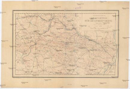 Mapa hypsometryczna Gór Świętokrzyskich