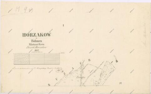 Katastrální mapa obce Hořákov