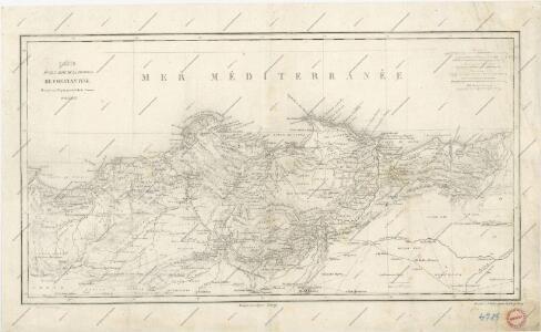 Carte d ́une partie de la province de Constantine