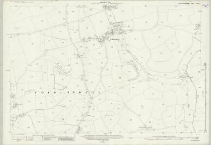 Gloucestershire LXXVII.3 (includes: Cold Ashton; Marshfield) - 25 Inch Map