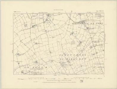 Suffolk XVII.NW - OS Six-Inch Map