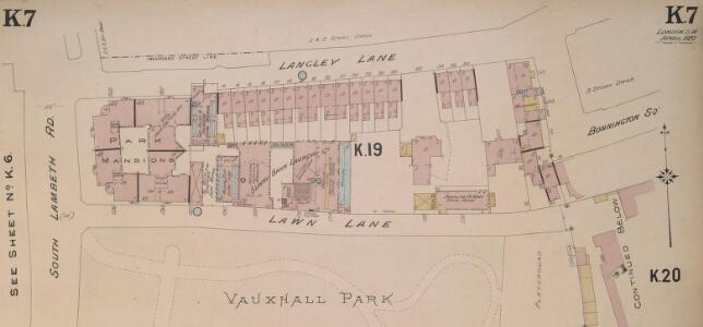 Insurance Plan of London South West District Vol. K: sheet 7-1