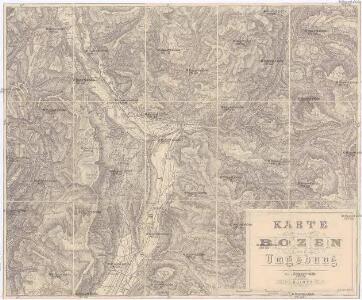 Karte von Bozen und Umgebung