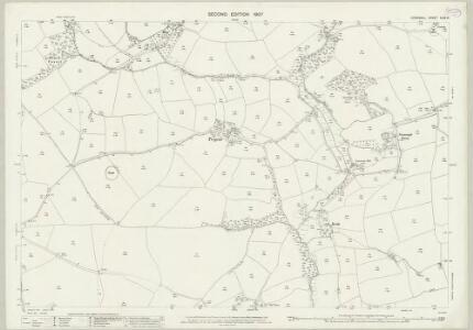 Cornwall XLIX.14 (includes: Ladock; Probus; St Erme) - 25 Inch Map