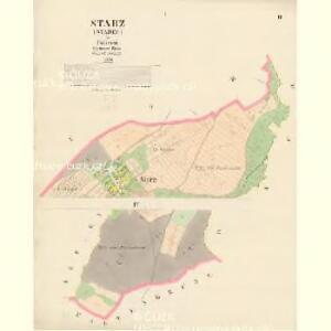 Starz (Starec) - c7256-1-001 - Kaiserpflichtexemplar der Landkarten des stabilen Katasters