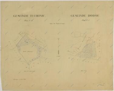 Mapy činžovních pozemků sekce Bzí pro obce: Štipoklasy, Tuchovice a Dobšice 1