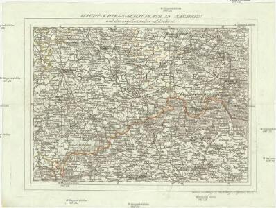 Haupt-Kriegs-Plan in Sachsen und den angränzenden Ländern