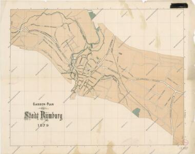 Gassen-plan der Stadt Rumburg