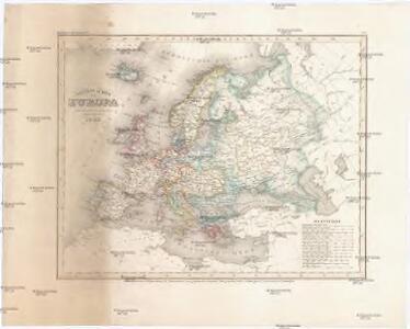 Neueste Karte von Europa
