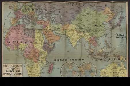 Carte d'actualité Édé. n12, Europe - Asie - Afrique - Océanie