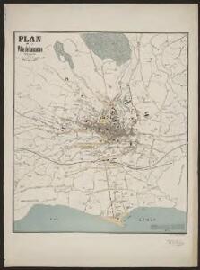 Plan de la ville de Lausanne et de sa banlieue