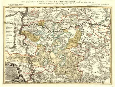 Carte geographique du Comte Inferievr de Cazenelnbogen, mise au jour par les Heritiers de Homann. Avec Pr. Imperial. l'An. 1745