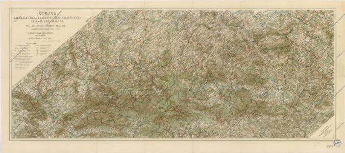 Šumava generální mapa značených cest turistických