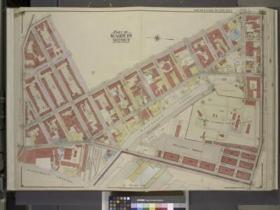 Brooklyn, Vol. 3, Double Page Plate No. 1; Part of    Ward 19, Section 8; [Map bounded by Lee Ave., Taylor St., Wythe Ave., Franklin   Ave., Flushing Ave., Washington Ave., Wallabout Channel, Division Ave.]