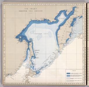Ice Chart, Okhotsk Sea Region, March.