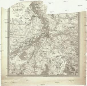Plan des Schlachtfeldes um Leipzig