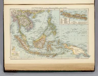 Hinterindien, Malayische Archipel.