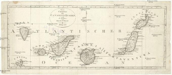 Neue Charte der Canarien Inseln