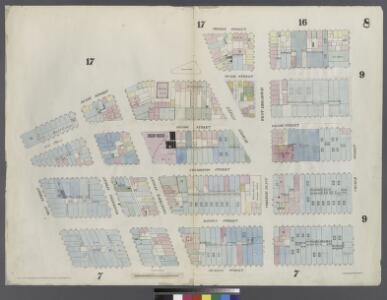 [Plate 8: Map bounded by Duane Street, Hudson Street, Thomas Street, Church Street, Murray Street, West Street]