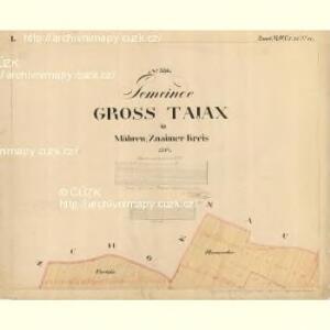 Gross Tajax - m0606-1-001 - Kaiserpflichtexemplar der Landkarten des stabilen Katasters