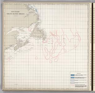 Ice Chart, Grand Banks Region, August.