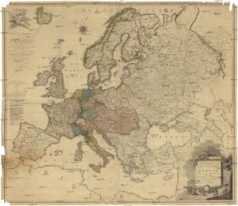 Neueste Post und General Karte von Europa mit der neuesten Länder Abtheilung des Letzten Friedens Tractate