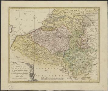 Nieuwe en naukeurige kaart der tien catholijke Nederlanden, uit de beste autheuren en beroemste heedendaagsche kaarten opgemaakt, en volgens sterekundige waarnemingen in orde gebragt