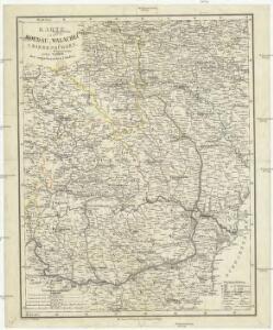 Karte von der Moldau, Wallachei u. Siebenbürgen nebst Theilen der angränzenden Länder