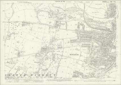 Berkshire XXXII.9 (includes: Clewer Within; Clewer Without; Dorney; Eton; New Windsor) - 25 Inch Map