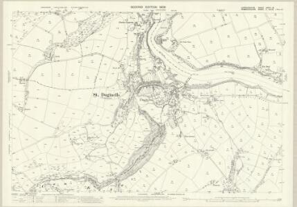 Cardiganshire XXXVII.8 (includes: Cardigan; St Dogmaels) - 25 Inch Map