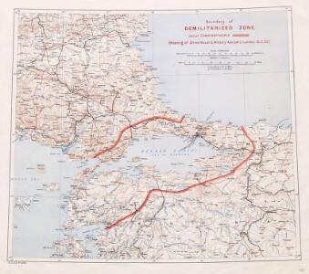 Boundary of demilitarized zone about Constantinople