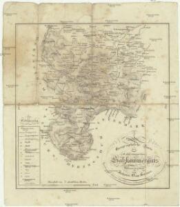 Geographische Karte des Salzkammerguts