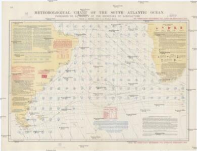 Meteorological chart of the South Atlantic Ocean