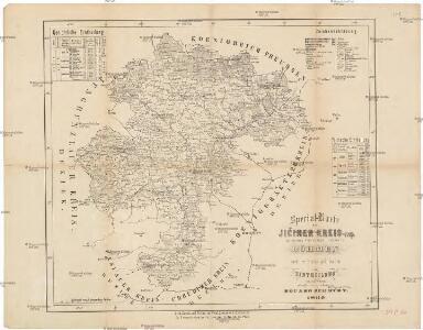 Special-Karte des Jičiner Kreis, resp. politischen Verwaltungs Bezirkes in Böhmen