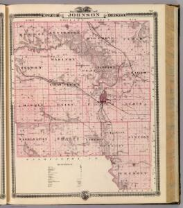 Map of Johnson County, State of Iowa.