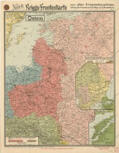 Neberts Kriegs - Frontenkarte von allen Kriegsschauplätzen No 2