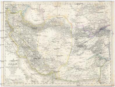 Übersichts-Karte Von Iran Oder West-Hochasien